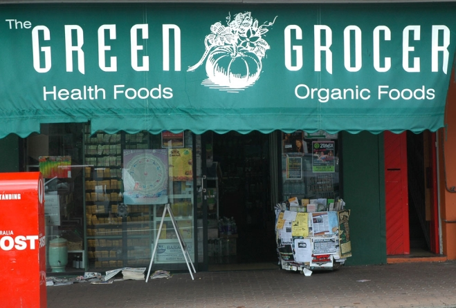 The Green Grocer's shop front in West End.