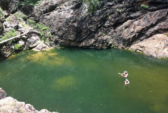 People swimming in Rocky Hole Mt Mee