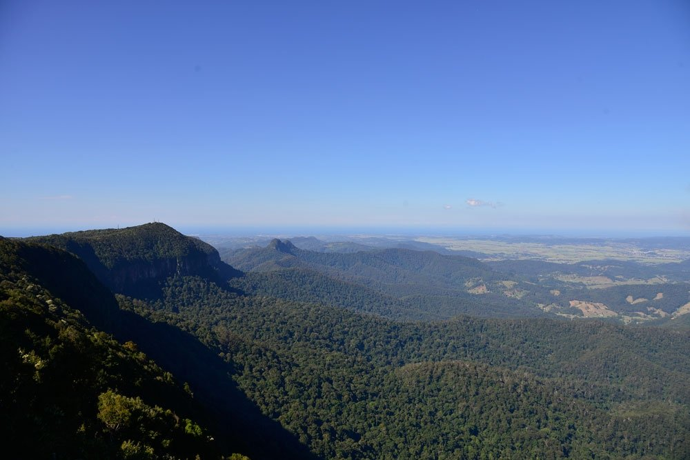 View down to Surfers Paradise from the Best of All Lookout Springbrook