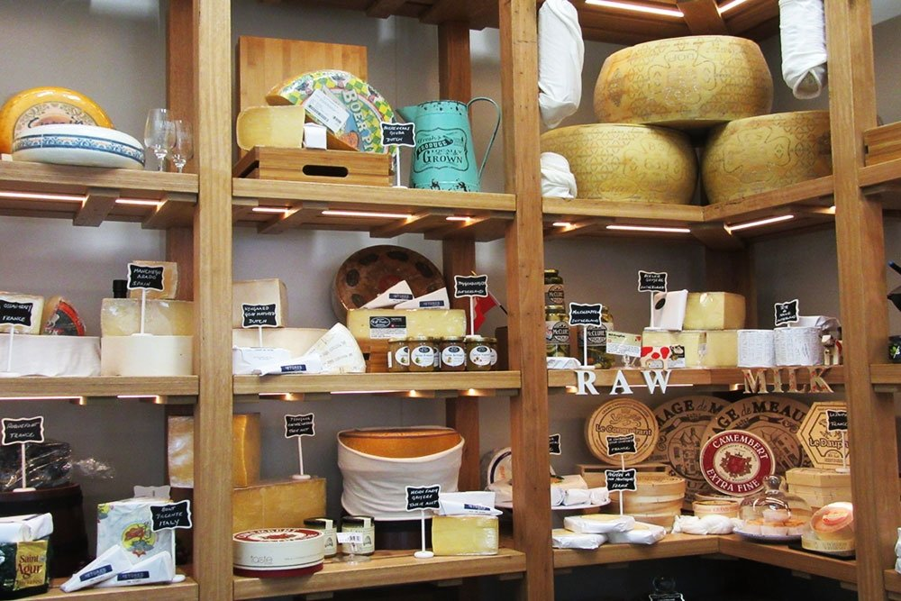 Cheeses inside the Stores West End